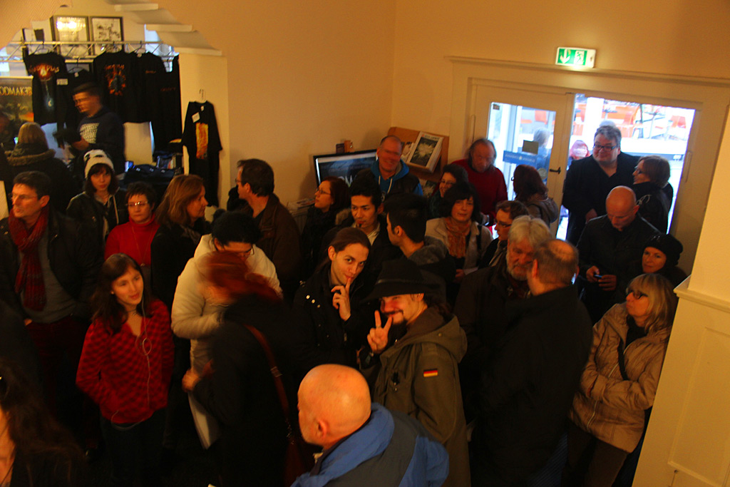 Fans at the foyer