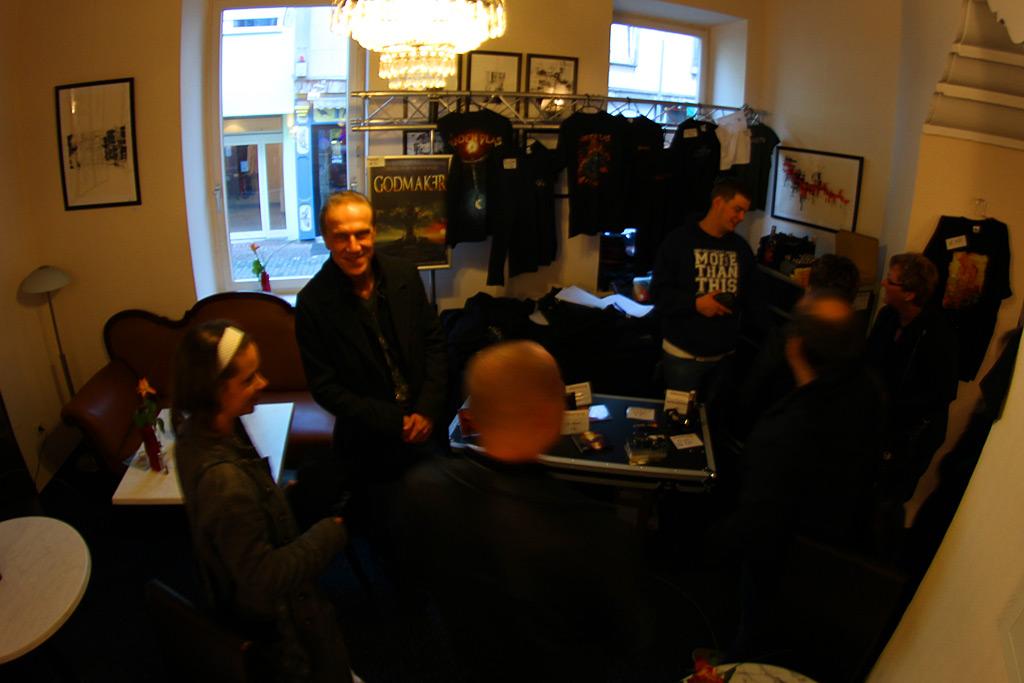 Günter Werno talking to fans